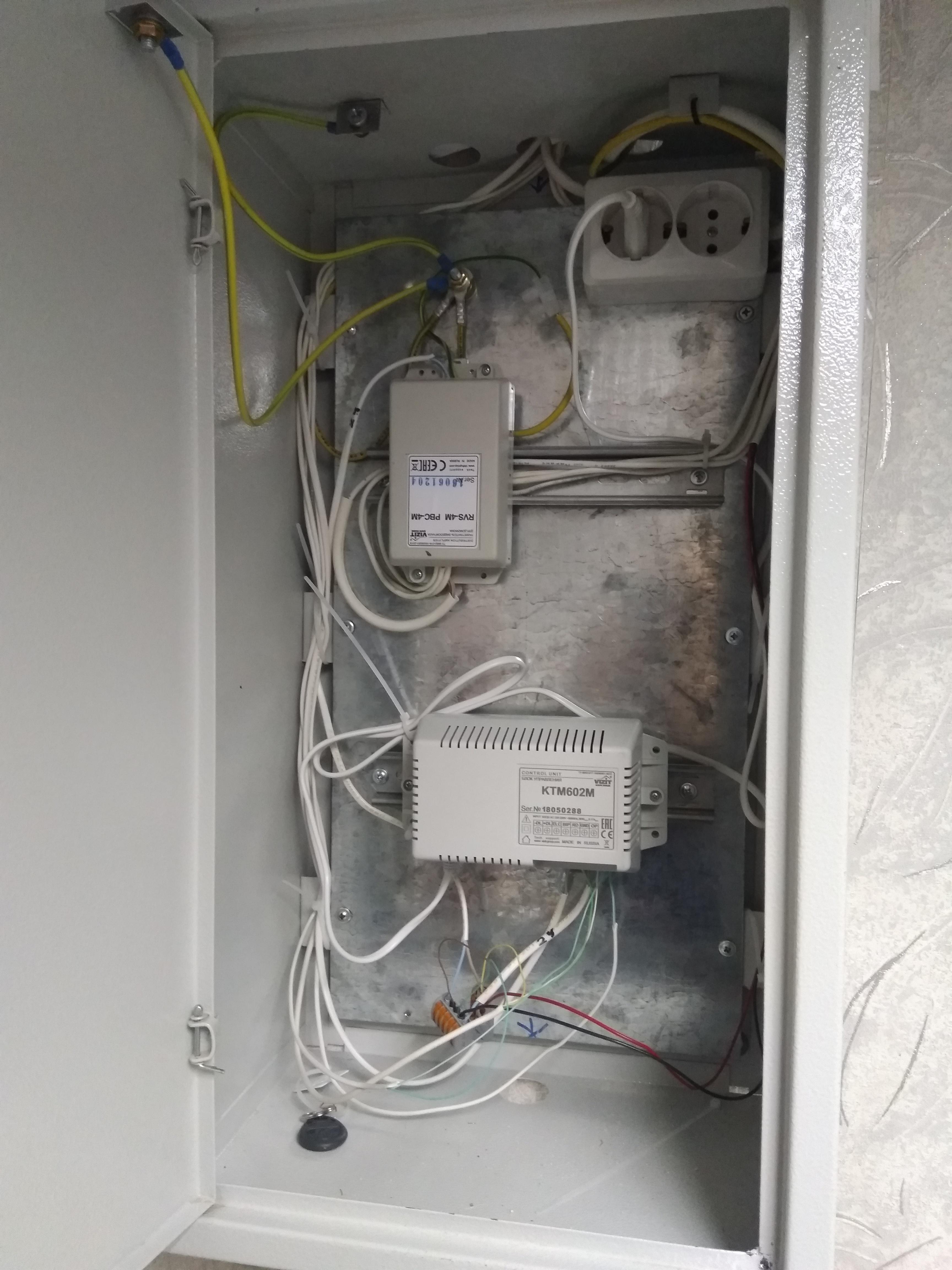 Установка видеодомофона в офисе: шкаф коммутационный